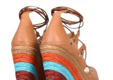 Zeppe fasciate in Rafia Multicolor Intere + Assemblaggio suole + Segni e Incassi su Solette + Fasciatura Solette Sandalo o P/F